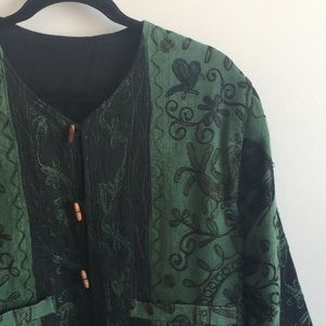 Jackets & Blazers - Handmade (?) quilted, embroidered cropped jacket